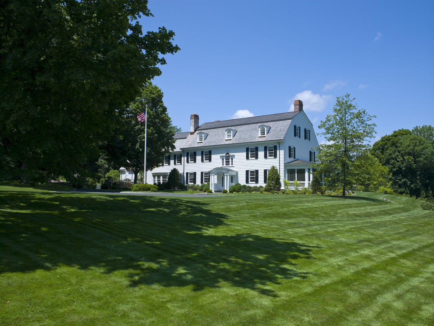 Landmark Colonial Residence in New Canaan, CT