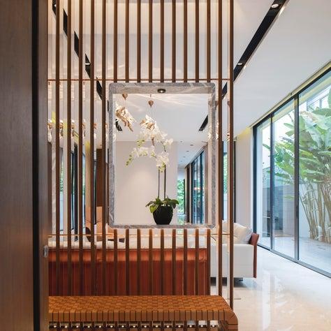 Millenial house, entry foyer