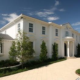 A formal Georgian house in Palm Beach.
