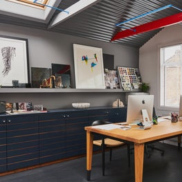 West London Design Studio, industrial style work area