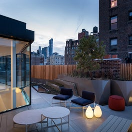 Upper East Side Townhouse, Roof terrace and addition.