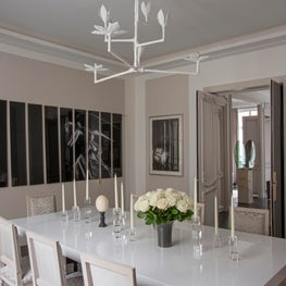 An art collector's dining room