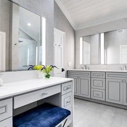 Oceanside Modern Cottage Master Bath Makeup Vanity
