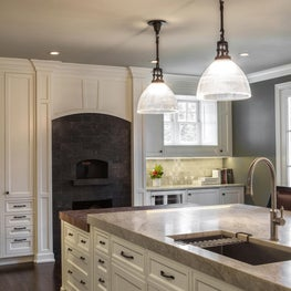 Lake Forest Chef's Kitchen - Custom Pizza Oven and Butcher Block