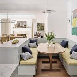 Los Altos Hills Tudor Kitchen Banquette