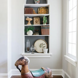 Vintage styled shelves