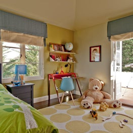 Fun and bright kids room.