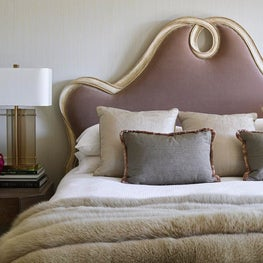 Detail of Master Bedroom design with modern and traditional elements, Atherton