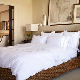 Palm Beach Bedroom with Casual Art Display