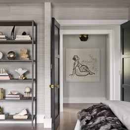 Brynn Olson Design Group - Hinsdale Modern Farmhouse - Master Bedroom Entrance