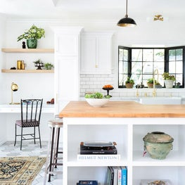 Custom Kitchen Open Plan with White Oak and Cement Tile