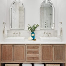 Serene and Eclectic Master Bathroom Renovation