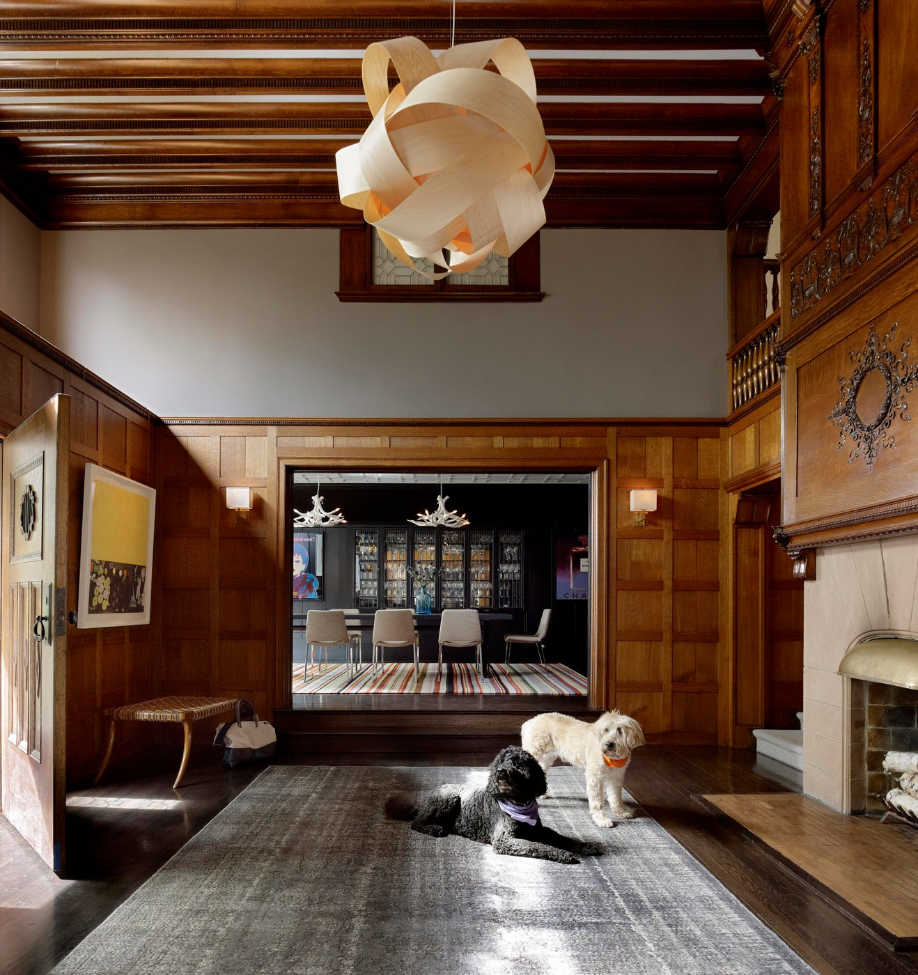 Foyer of this historic home in San Francisco's Pacific Heights Neighborhood