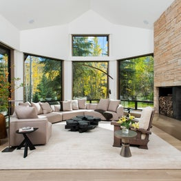 Snowmass Village, Aspen Two Creeks Remodel- Living Room, Fireplace, Views