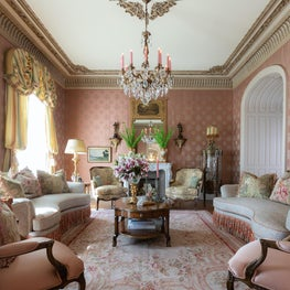 Formal Living Room in French-inspired Chateau