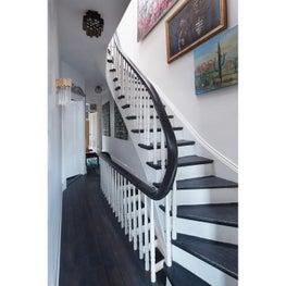 Swirling stair rail