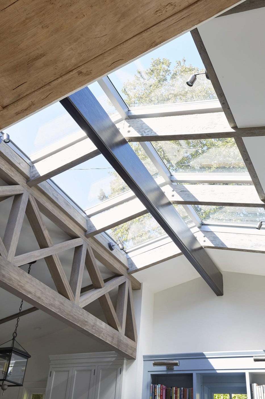 Skylight Detail in a Ranch House Renovation