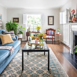 Bright Traditional Eclectic Living Room