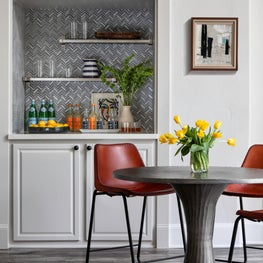Updated Built-in Bar with Modern Bistro Dining