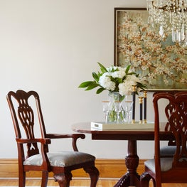 Hinsdale, Traditional Dining Room with modern details