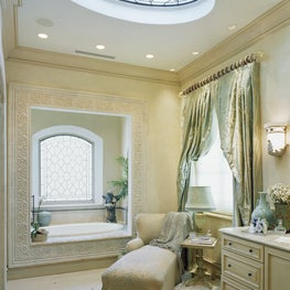 Master bath for a busy Mom of a large family designed for R&R on a daily basis