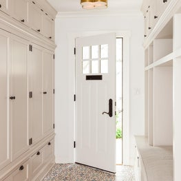 Mudroom with moroccan tiles