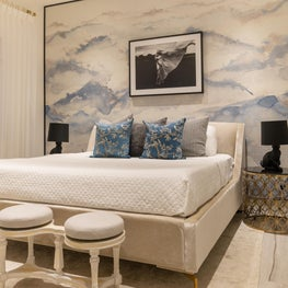 Contemporary Oceanfront Miami Home : Timeless with these Upholstered Walls