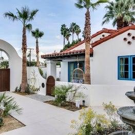 Entrance from the fountain court into La Serenas Villas Hotel's private villas