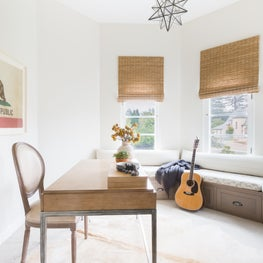 Transitional California Spanish Revival Home Office