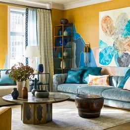 Colorful Upper West Side Pied a Terre- Living Room