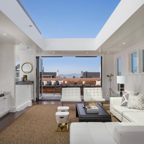 Union Street Residence | San Francisco | Custom Retractable Ceiling (open)