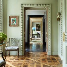 Phillimore Gardens Mansion House - Reclaimed Parquet Flooring, Custom Architrave