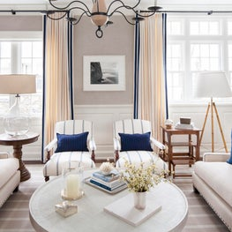 Blue and White Nautical Living Room