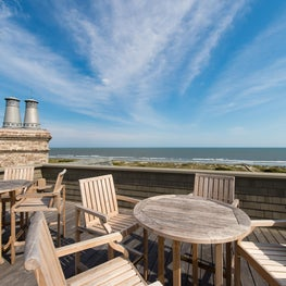 Oceanfront Roofdeck and Brick Chimney with Lead Coated Copper Chimney Caps