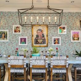 Frida Kahlo inspired dining area of La Serena Villas Hotel at Azucar