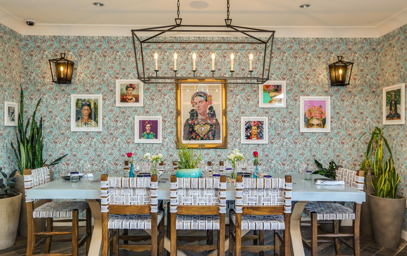 Frida Kahlo inspired dining area of La Serena Villas Hotel at Azucar