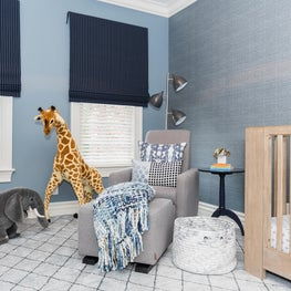 Boy's Nursery with Soft, Organic Touches and Modern Furniture