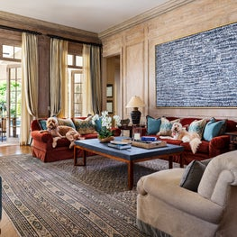 This family room exudes casual sophistication.