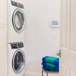 West Palm Beach Blue and White Laundry Room