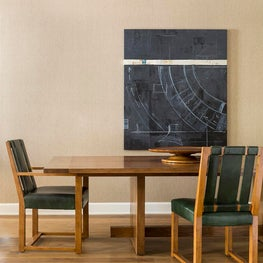 The Parker Dining Table in the RTMH Showroom