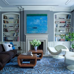 This is the family room on the second floor, both elegant and playful.