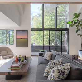 "Family Room, ""Modern in the Redwoods"" Mill Valley, California"