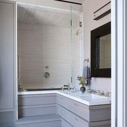 Japanese Soaking Tub in Bathroom - Downtown Triplex Apartment