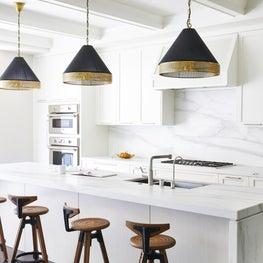 Kitchen island and barstools