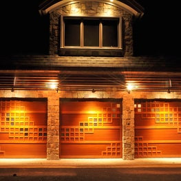 Lattice weave garage doors