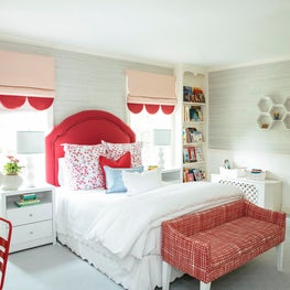 Red and Blue Girl's Bedroom