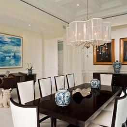 Florida Formal Dining Room by Diane Burgoyne Interiors