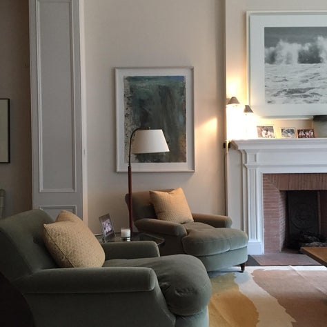 Classic living room with molding