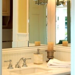 Bathroom with Mirror Sconce and White Counter top in Atherton Residence I