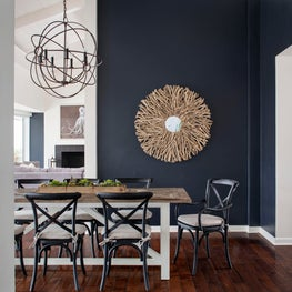 Navy is the most sophisticated of coastal colors so why not take it to the roof.